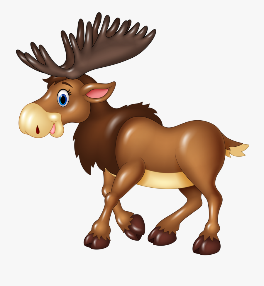 Cliparts Animaux Divers - Moose Cartoon, Transparent Clipart