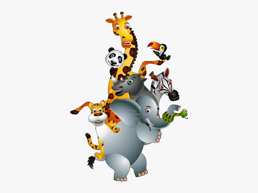 Group Of Cartoon Animals Png, Transparent Clipart