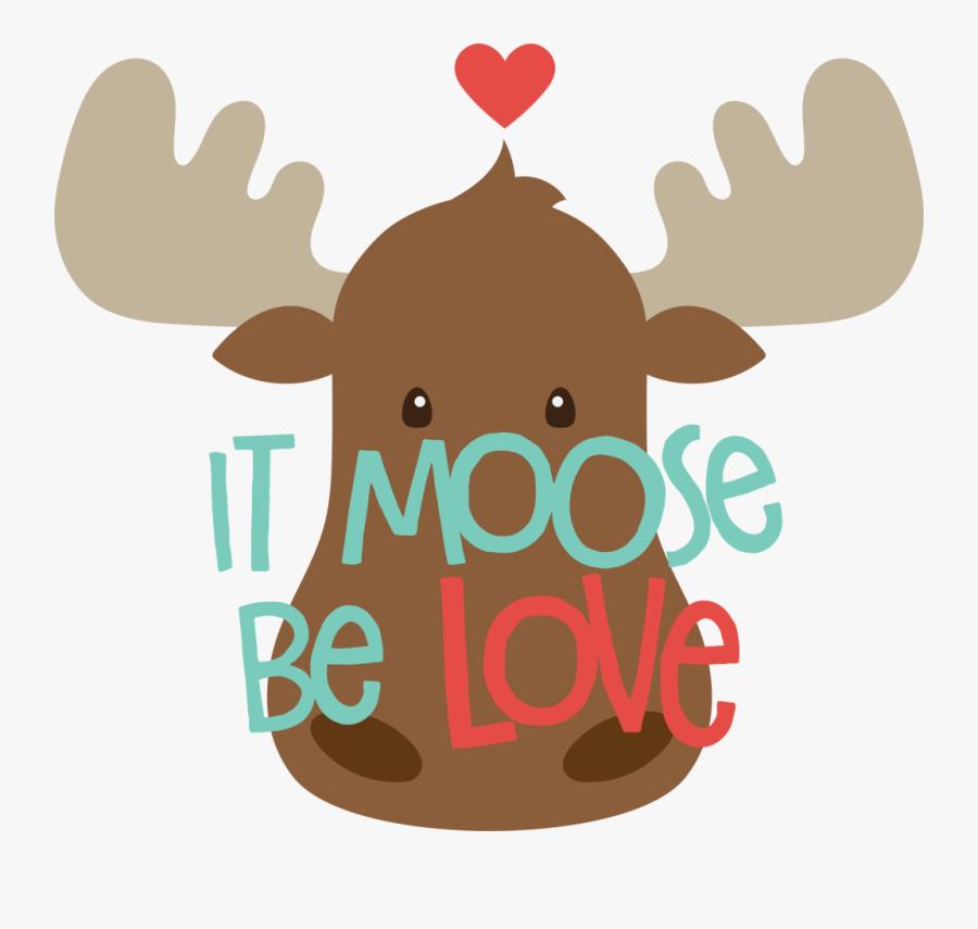 Moose Love, Transparent Clipart