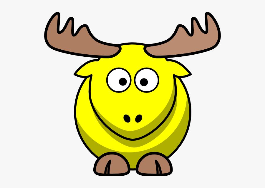 Yellow Moose Cartoon Svg Clip Arts - Moose Animated, Transparent Clipart