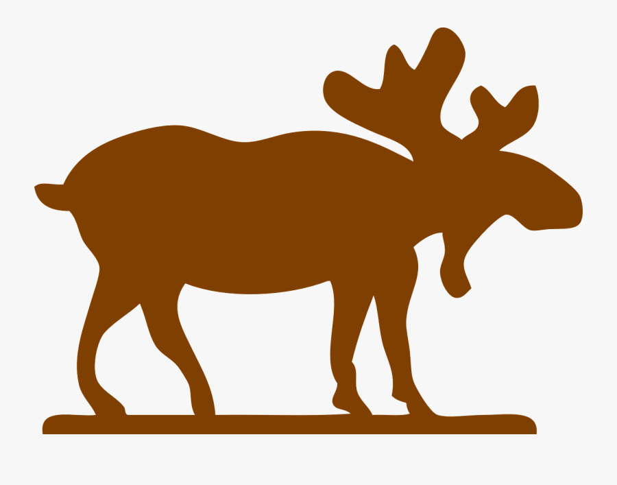 Logo With A Moose, Transparent Clipart