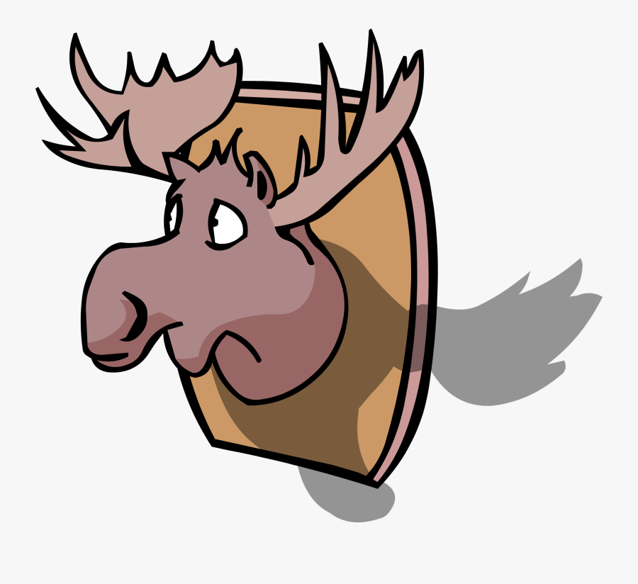 Transparent Moose Silhouette Png - Moose Head Cp, Transparent Clipart