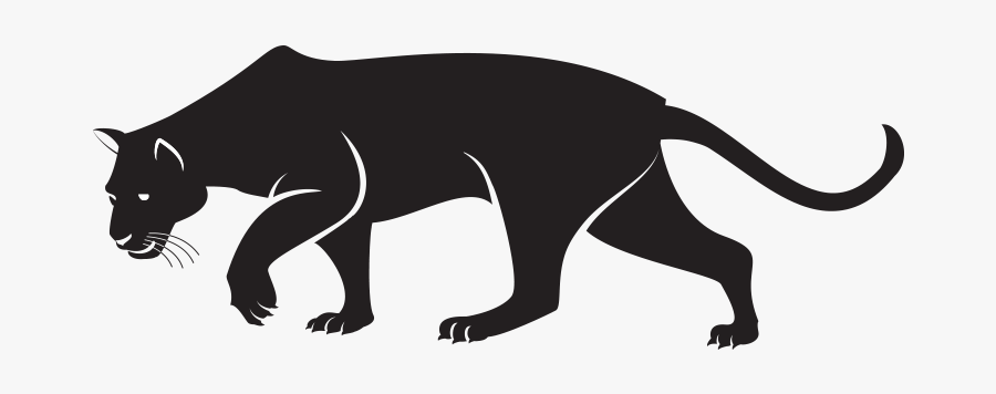 Black Panther Cougar Clip Art - Black Panthers Animal Drawings, Transparent Clipart