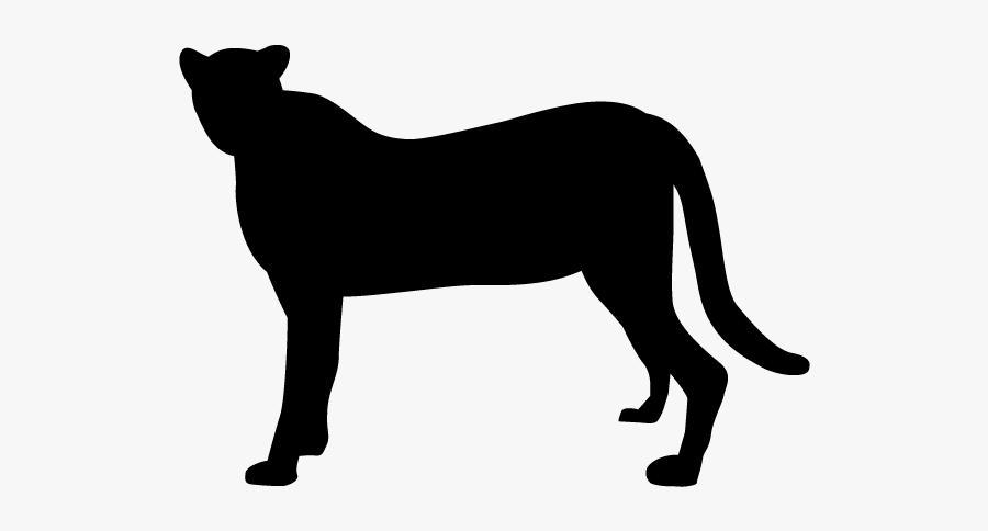 Leopard Lion Silhouette Black Panther Clip Art - Leopard Silhouette Transparent Background, Transparent Clipart