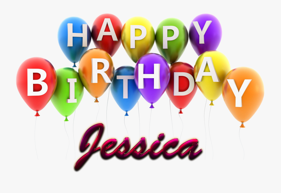 Happy Birthday Clipart Jessica - Happy Birthday Joshua Balloons, Transparent Clipart