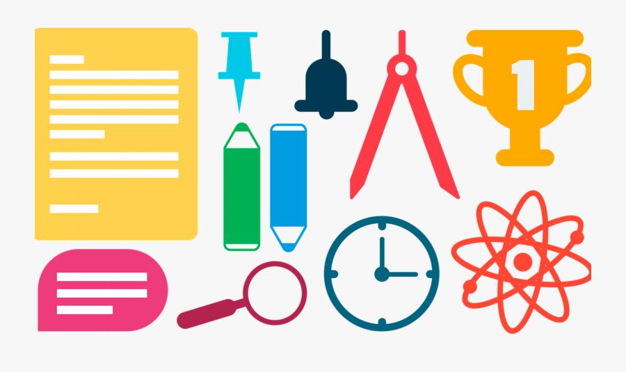 School Supplies School Color Free Picture - School Content Areas, Transparent Clipart