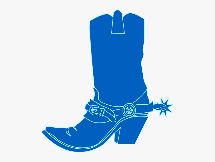 Blue Cowboy Boot Clipart, Transparent Clipart
