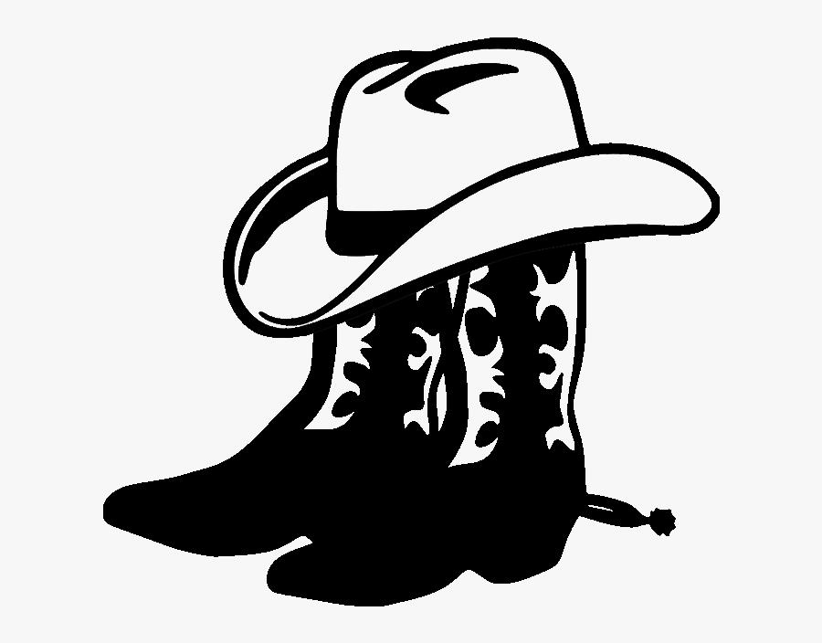 Cowboy Boots N Hat2 File Size - Cowboy Hat Clipart Transparent Background, Transparent Clipart
