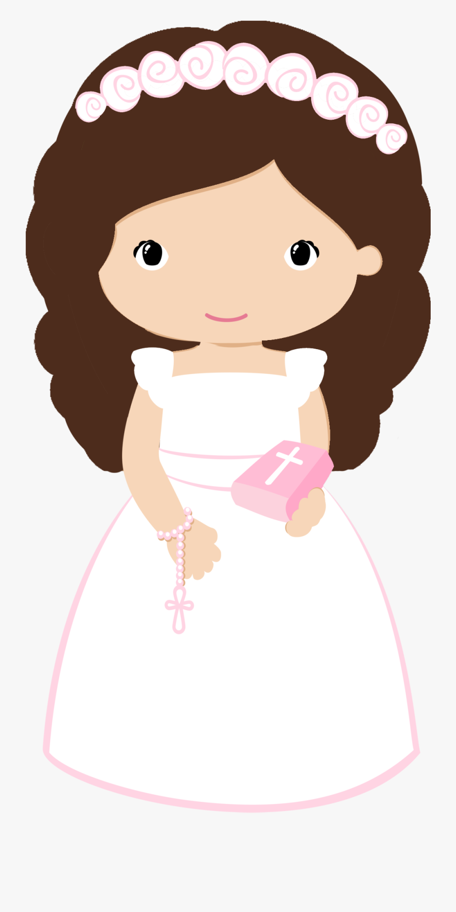 Maria Jose, First Communion, Paper Quilling, Taps, - First Holy Communion Girl Clip Art, Transparent Clipart