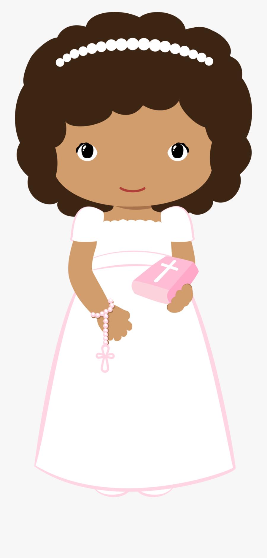 Girl Clipart First Communion - Communion Girl Clipart, Transparent Clipart
