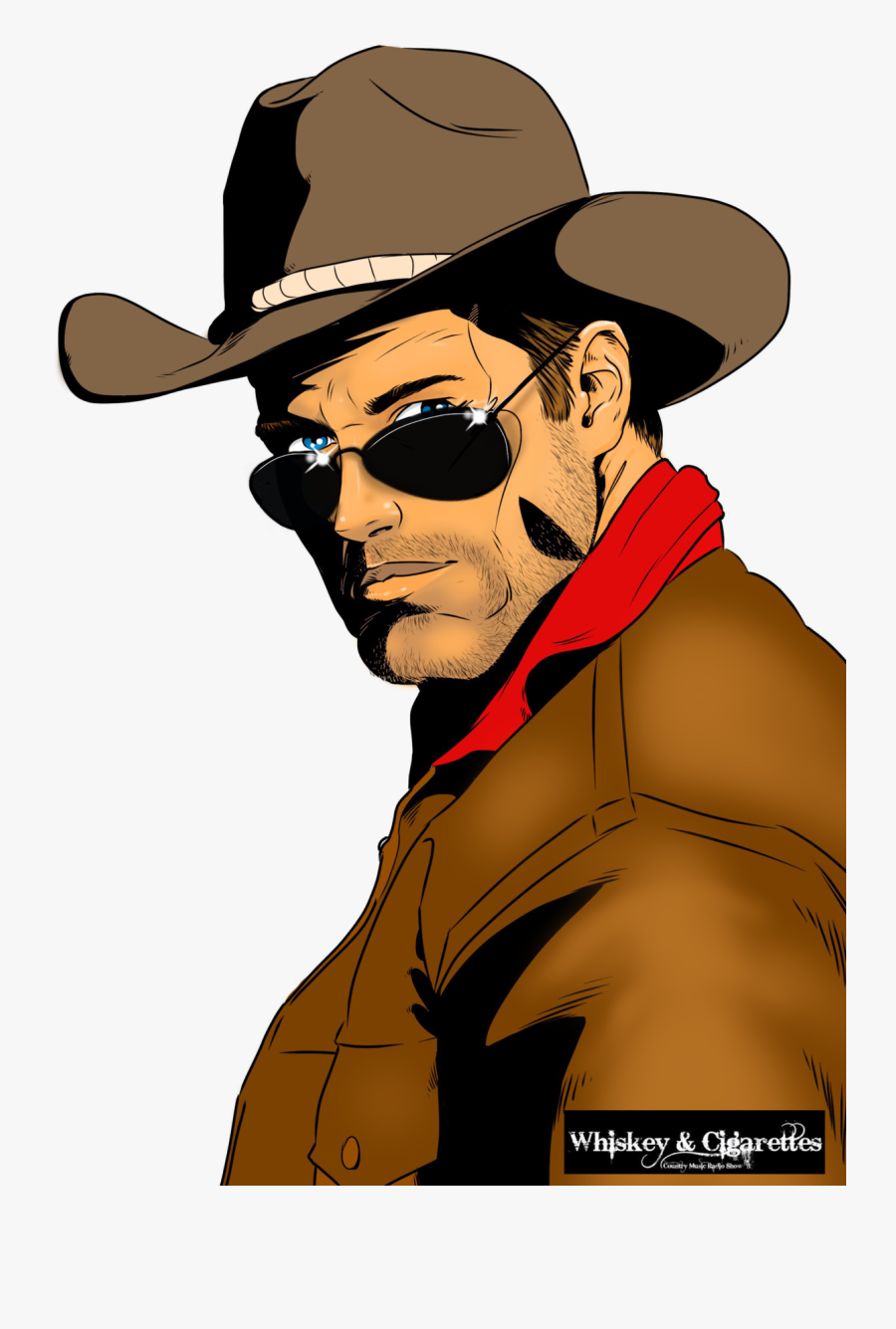 """Mts Management Group And """"whiskey And Cigarettes Radio - Cowboy Hat Comic, Transparent Clipart"""
