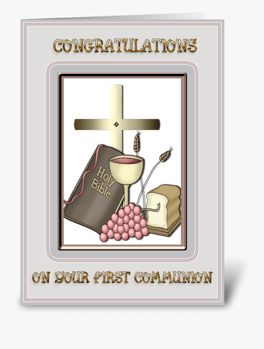 Communion Congratulations Greeting Card - First Holy Communion Congratulations, Transparent Clipart