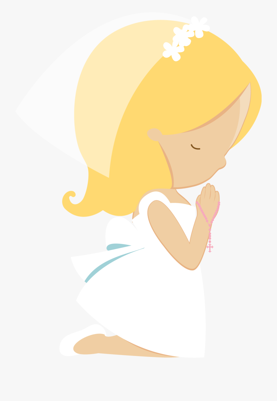 First Communion Girl Png, Transparent Clipart