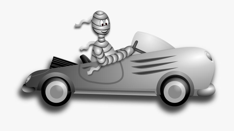 Little Mummy Driver Royalty Free - Halloween Car Clip Art, Transparent Clipart