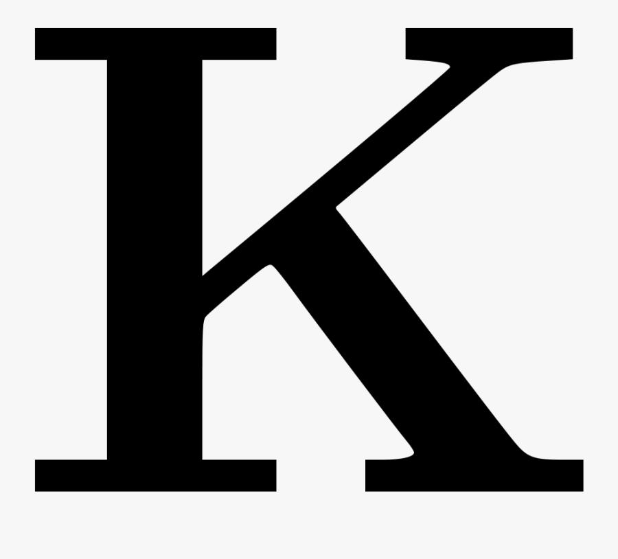 Letter Clipart Free Download Clip Art On - Letter K Svg, Transparent Clipart