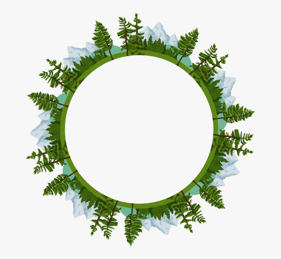 Transparent Nature Border Png - Clip Art Circle Nature, Transparent Clipart