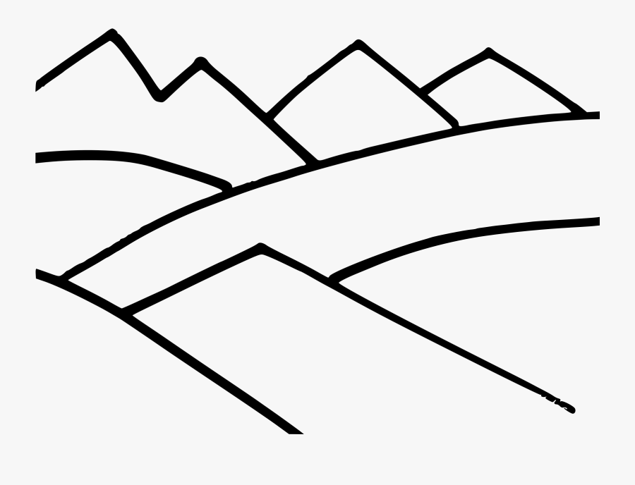 Drawing Line Art Mountain Computer Icons Silhouette - Mountain Outlines, Transparent Clipart