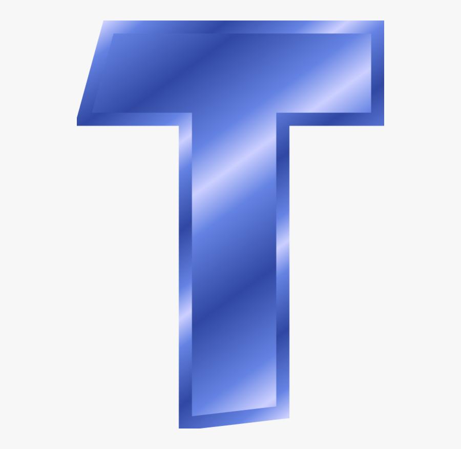 Clip Art Clip Art Letter T - Letter T Blue Color, Transparent Clipart