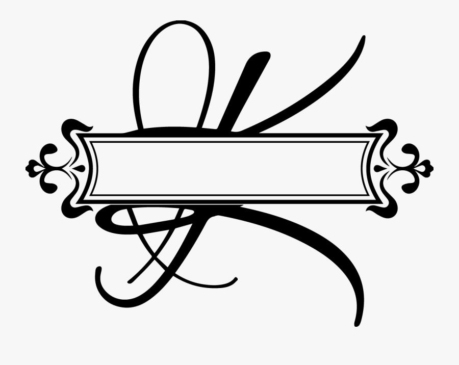 Transparent Fancy Letter K Clipart - Split Letter Monogram L, Transparent Clipart