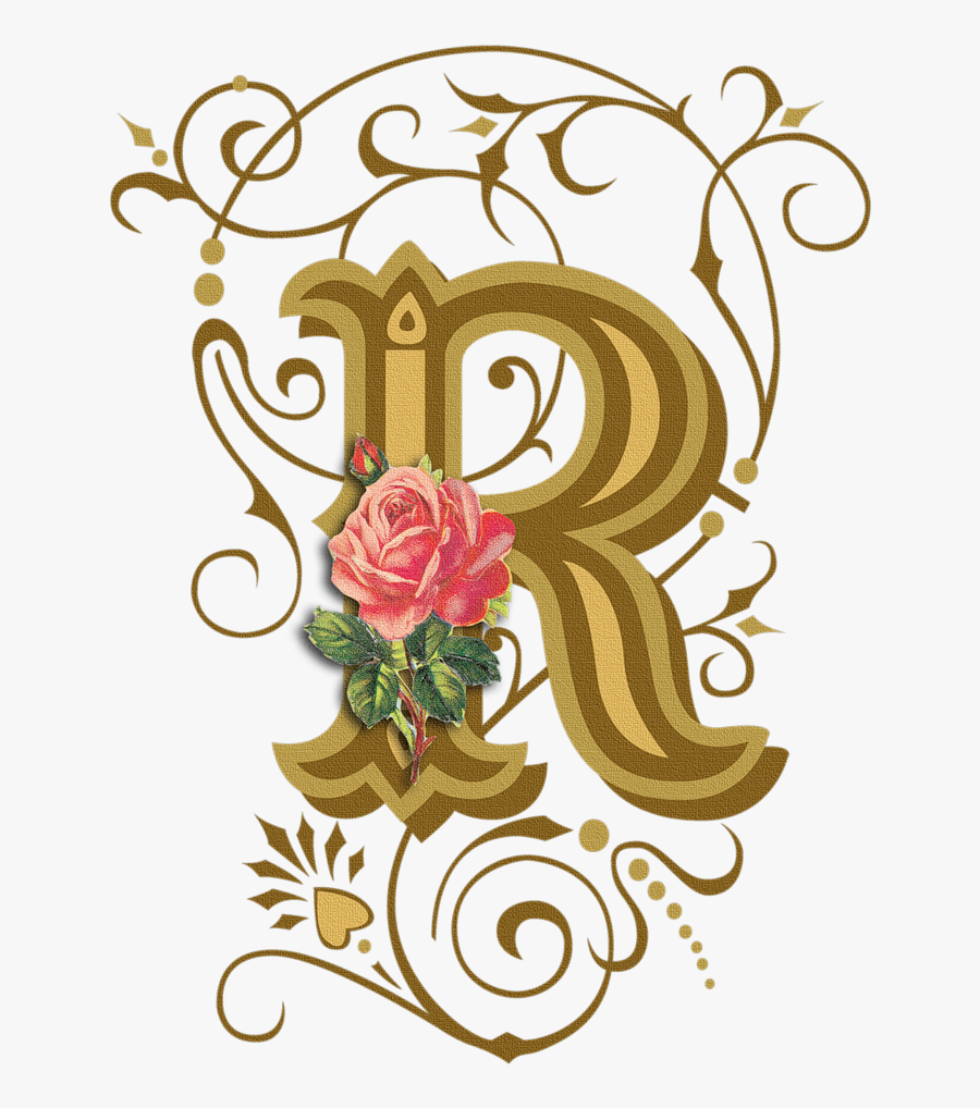 R Letters, Handwriting Styles And Monograms - Design Fancy Letter D, Transparent Clipart