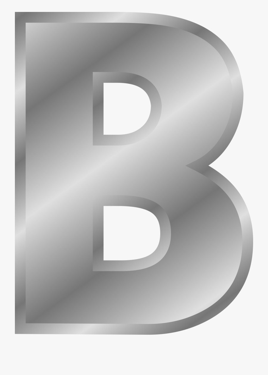 Silver Letter Clipart - B Letter Silver Png, Transparent Clipart