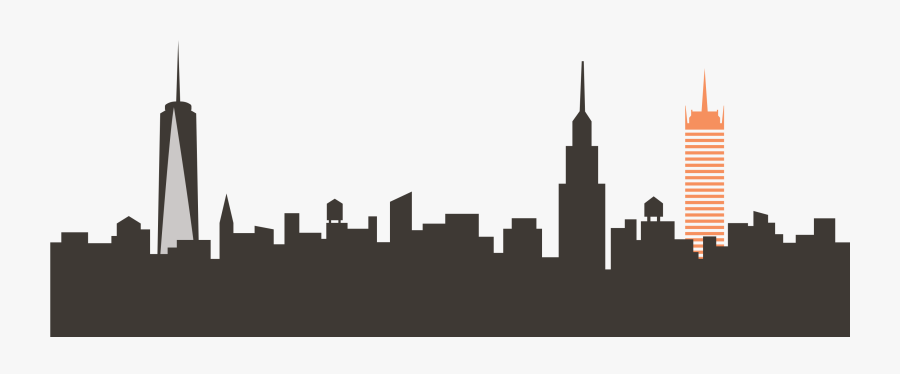 City Clipart Skyline Nyc 6 Of New York - Wework Business Model Canvas, Transparent Clipart