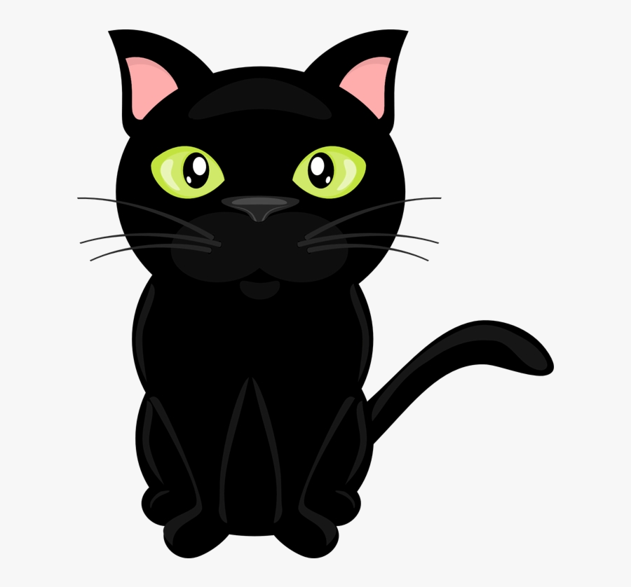 Black Cat Clip Art Freeuse Cats Vector Real Clipart - Black Cat Vector Png, Transparent Clipart