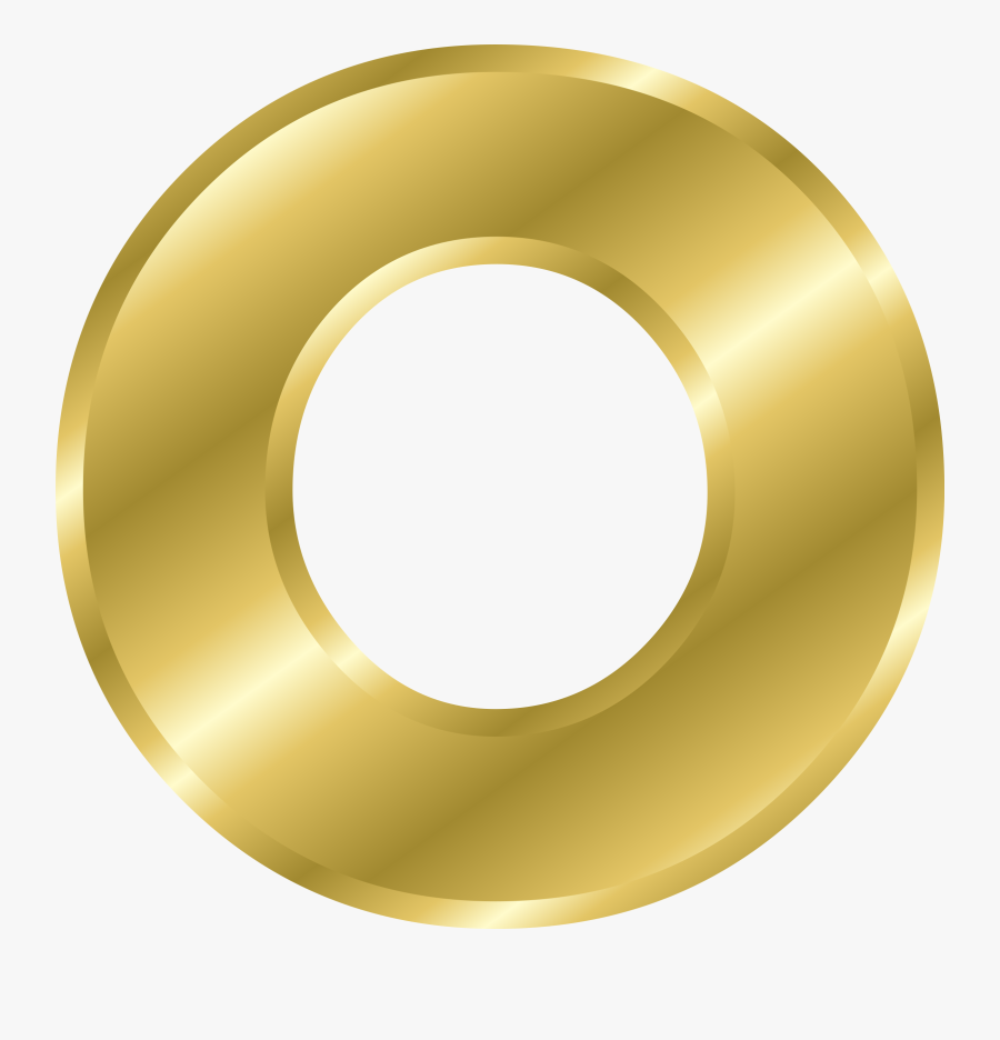 Effect Letters Alphabet Gold - Letter O In Gold, Transparent Clipart