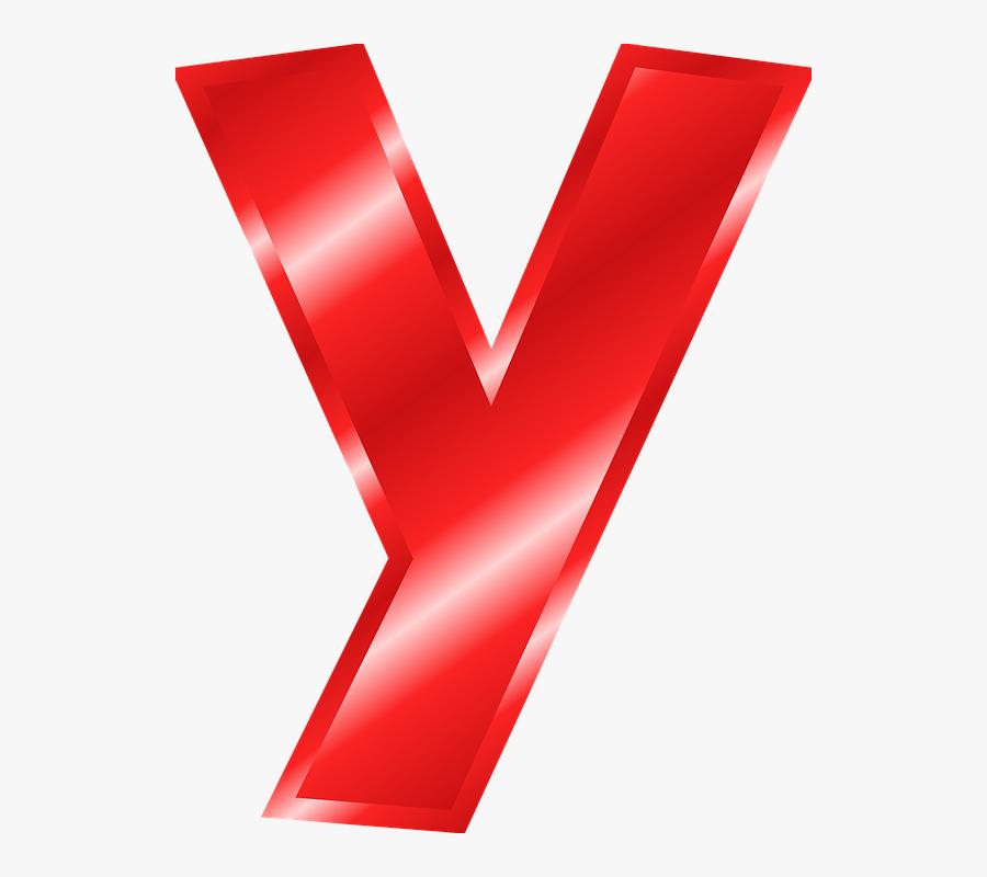 Alphabet, Y, Abc, Letter, Alphabetic Character - Abecedario Letra Y En Color Rojo, Transparent Clipart