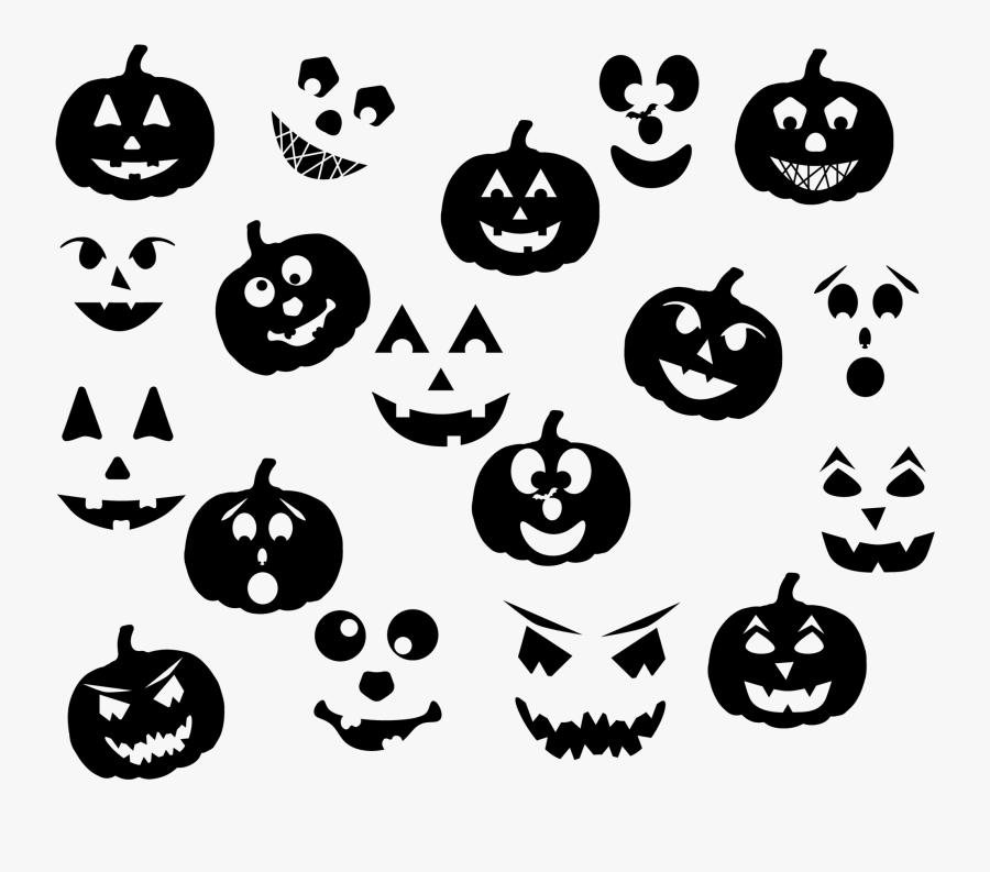Jack O Lantern Pack - Halloween Jack O Lantern Svg, Transparent Clipart