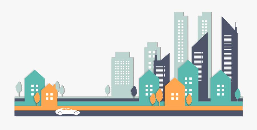 City Buildings Clipart - City Buildings Vector Png, Transparent Clipart