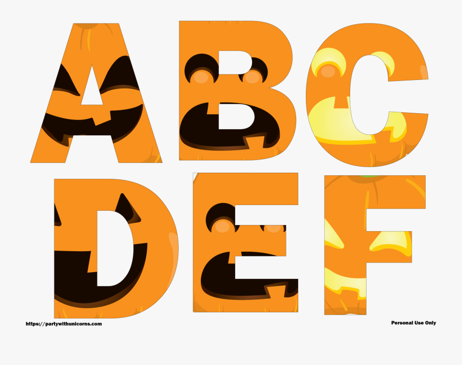 Halloween Letters Clip Art, Transparent Clipart