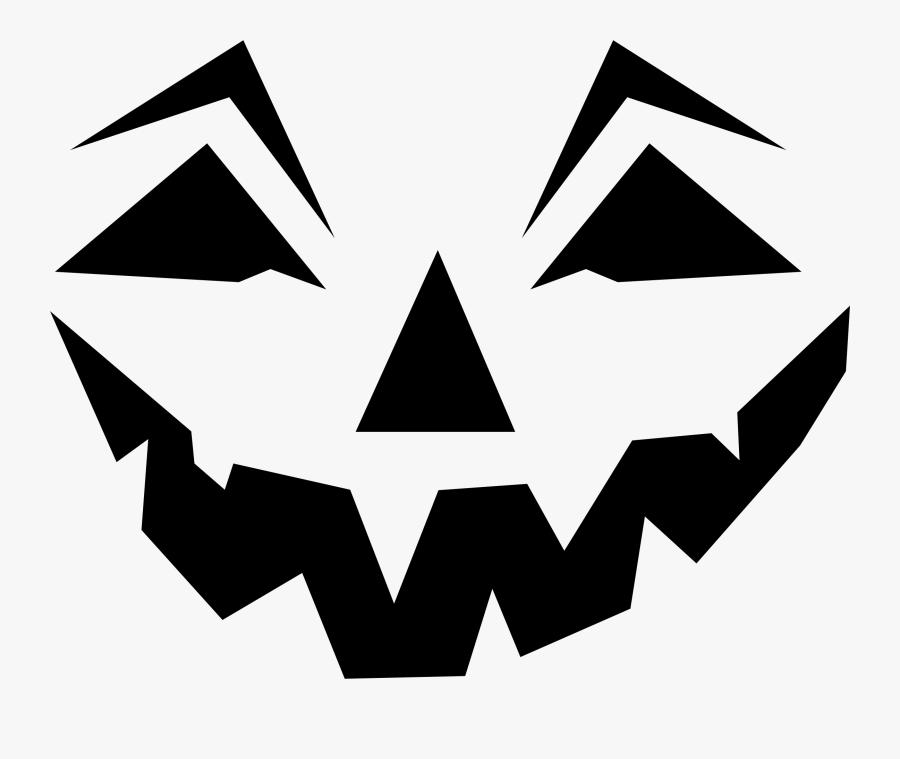 Jack O Lantern Face Silhouette - Jack O Lantern Face Clipart, Transparent Clipart