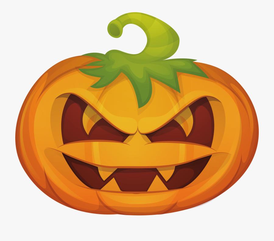 Clip Art Jack O Lantern Calabaza - Png Pumpkin Face, Transparent Clipart