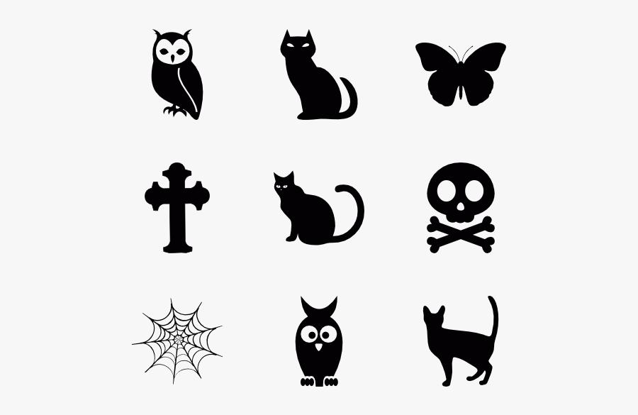Black Cat,cat,silhouette,black And White,small To Medium - Terror Icons, Transparent Clipart