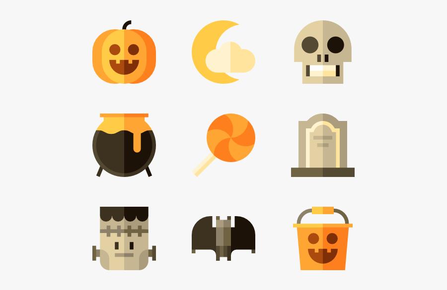"Orange,jack O"" Lantern,clip - Pumpkin Icon Flat Png, Transparent Clipart"