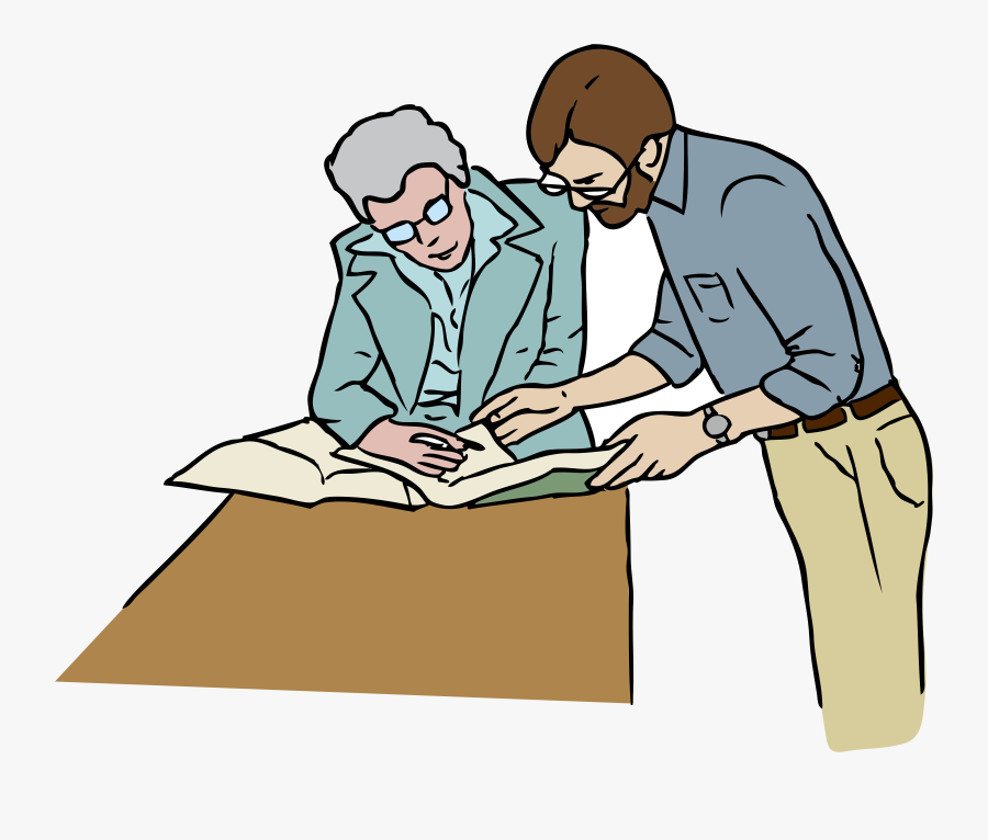 Clipart Reference Desk - Working In Office Clip Art, Transparent Clipart