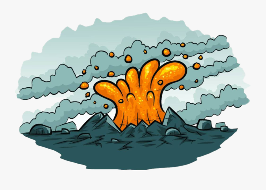 Clouds Clipart Volcano - Spurt Clipart, Transparent Clipart