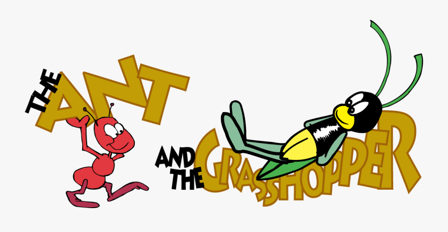 Ant And Grasshopper Clip Art Clipart Free Download - Ant And The Grasshopper Coloring Pages, Transparent Clipart