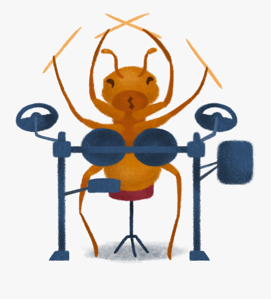 Stickers Ant Playing Drums - Ant Man And The Wasp Ant Drum, Transparent Clipart
