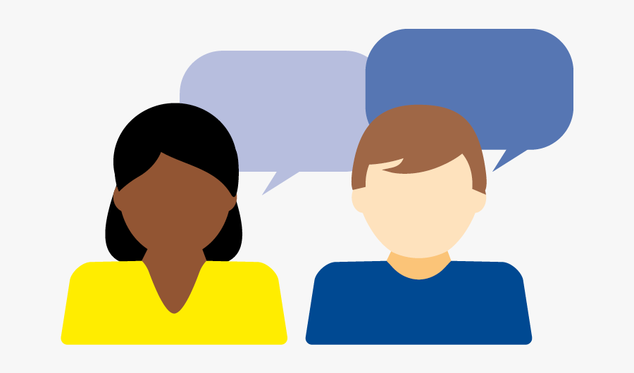 Two People Talking Icon - Frequently Asked Questions Cartoon, Transparent Clipart