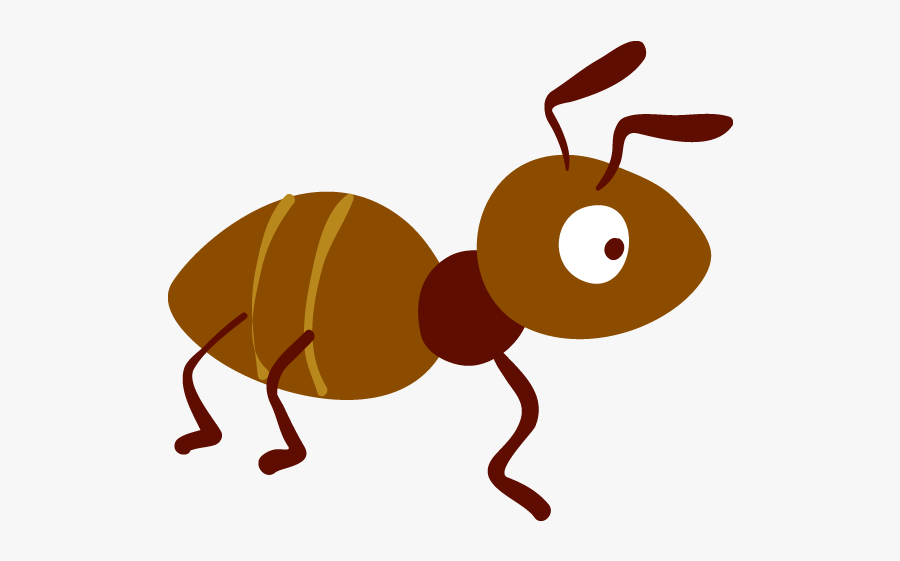 Insect Clipart Brown Ant - Cartoon Ant Transparent Background, Transparent Clipart