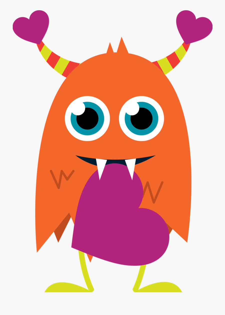 Clipart Of Day, Interest And Et - Happy Valentines Day Monster, Transparent Clipart