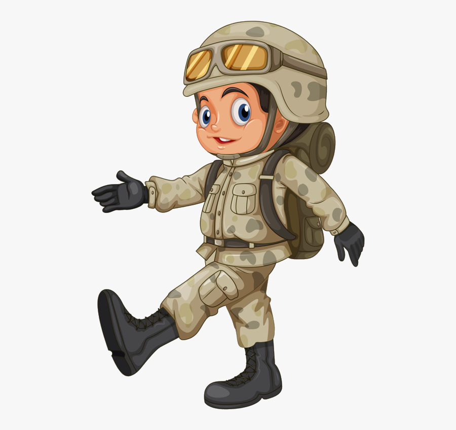 Art,fictional Figure - Soldier Cartoon For Kids, Transparent Clipart