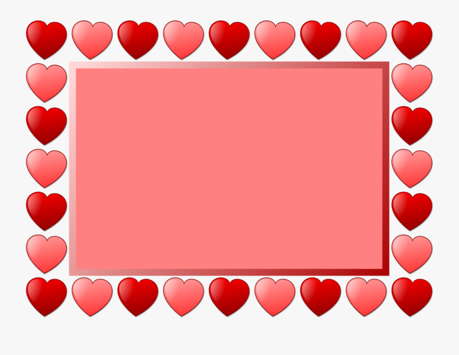 """Heart Picture Frames Line Art Drawing Valentine""""s Day - Valentines Frames Clip Art, Transparent Clipart"""