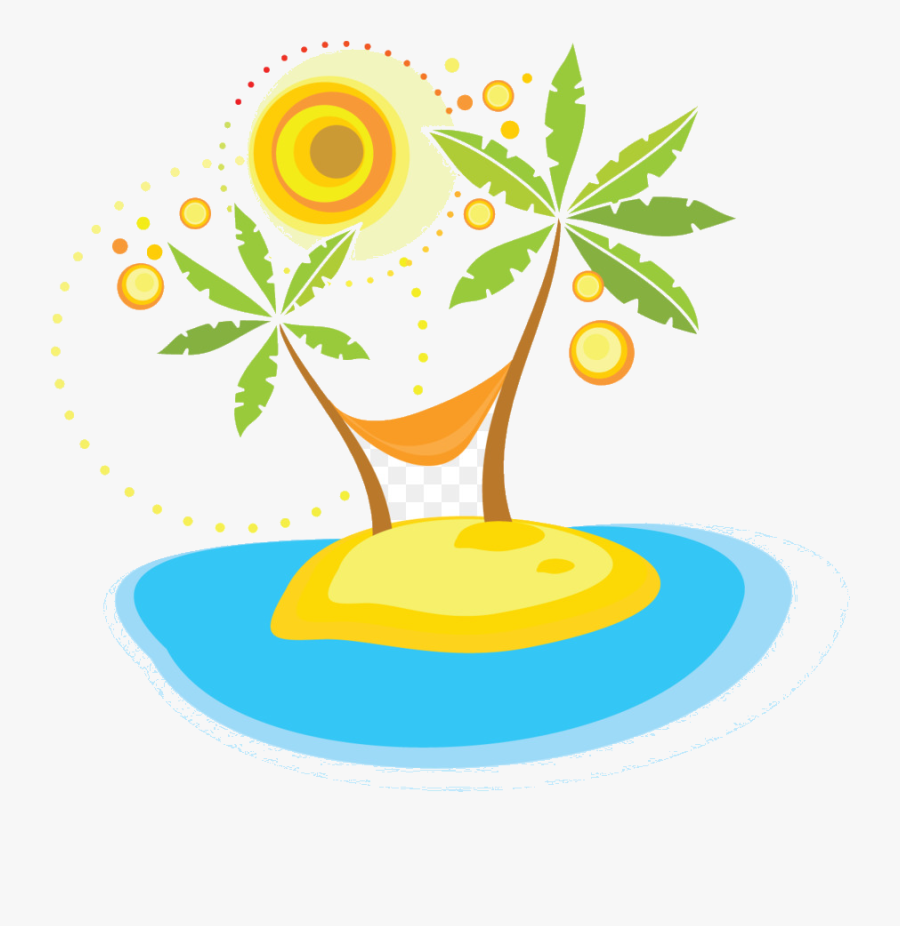 Holiday Summer Vacation Clip Art Palm Tree Transparent - Summer Holiday Clipart, Transparent Clipart