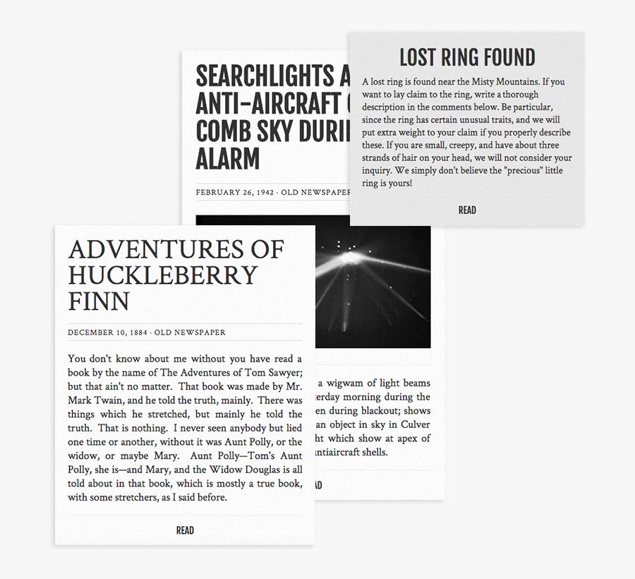Clip Art Wordpress Theme That Classic - Classic Old Newspaper Wordpress Theme, Transparent Clipart