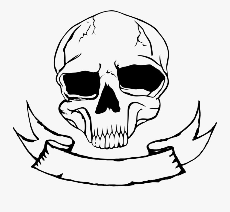 Clip Art Skeleton Nose - Skull Nose Drawing, Transparent Clipart