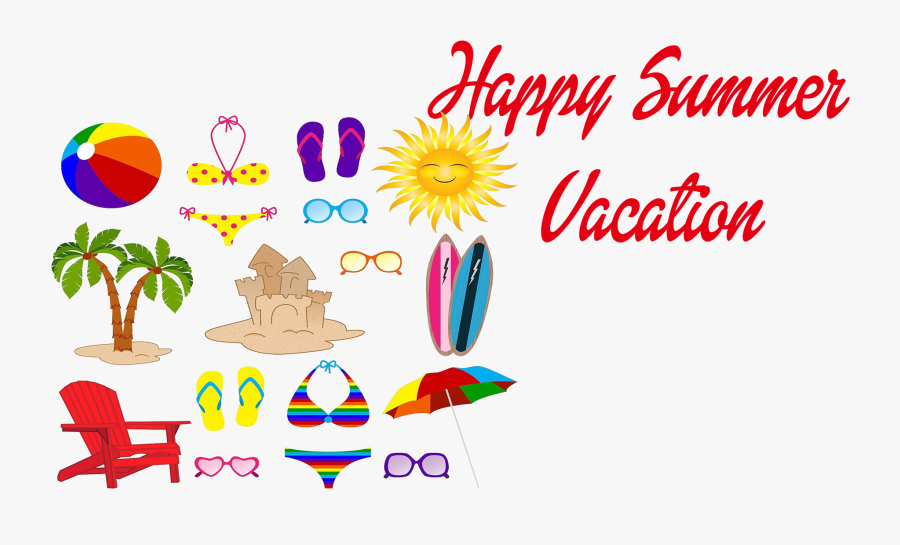 Happy Summer Vacation Png Transparent Image - Summer Vacation Logo Png, Transparent Clipart