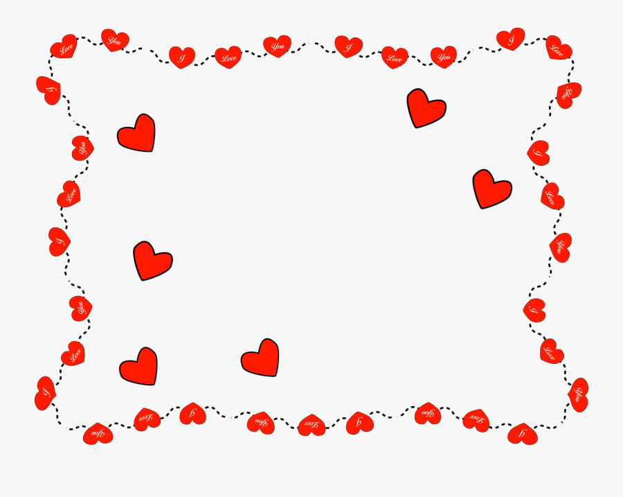 Valentines Clip Art 9 Wide Wallpaper - Valentines Day Frame Clip Art, Transparent Clipart